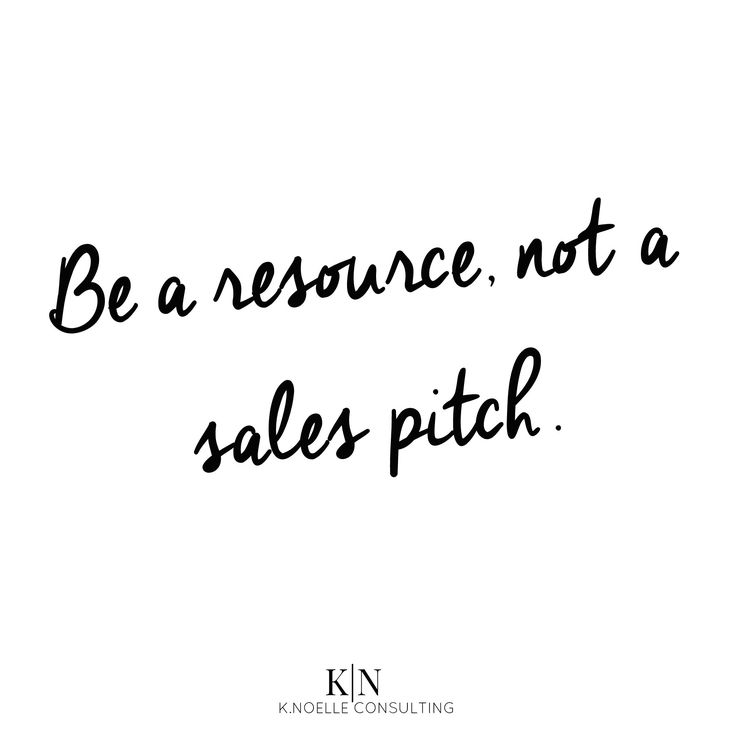 Prospecting without a pitch