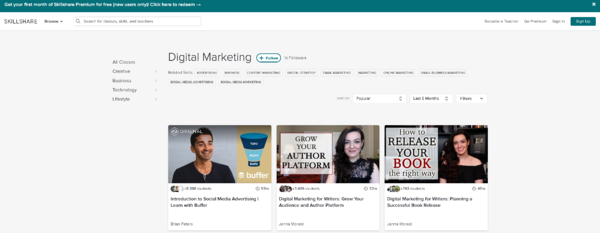 SkillShare for Digital Marketing
