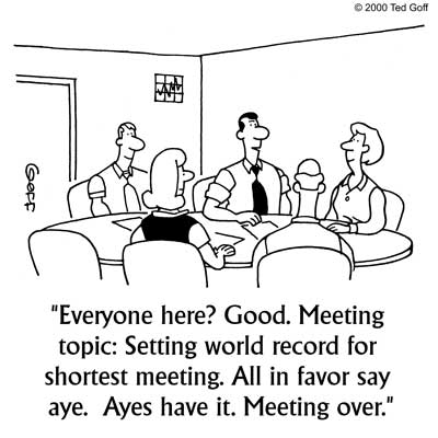 Short and effective sales meeting