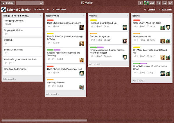 Trello Internal Communication App